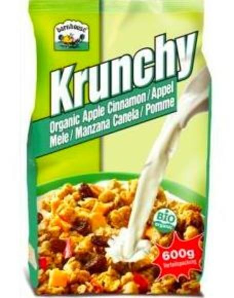 MUESLI KRUNCHY Manzana-canela y Espelta-coco, copos maiz-choco BARNHOUSE.: Catálogo de La Despensa Ecológica