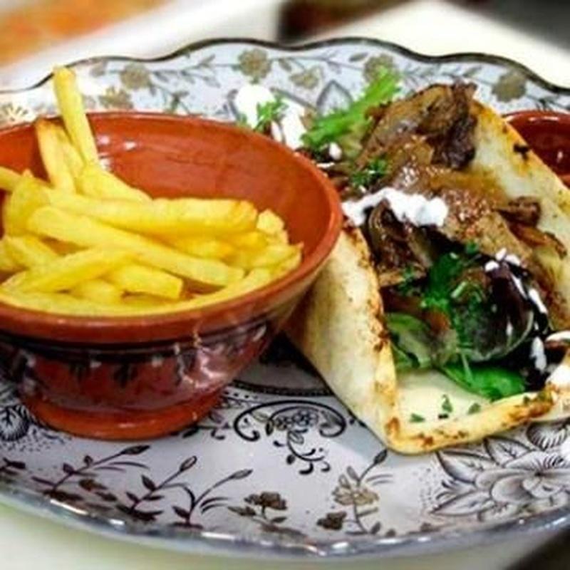 Shawarma libanés: Carta de Baobab Exotic