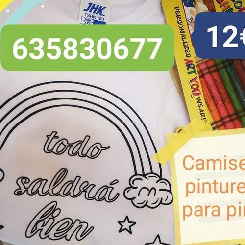 Camiseta y piruletas  para pintar