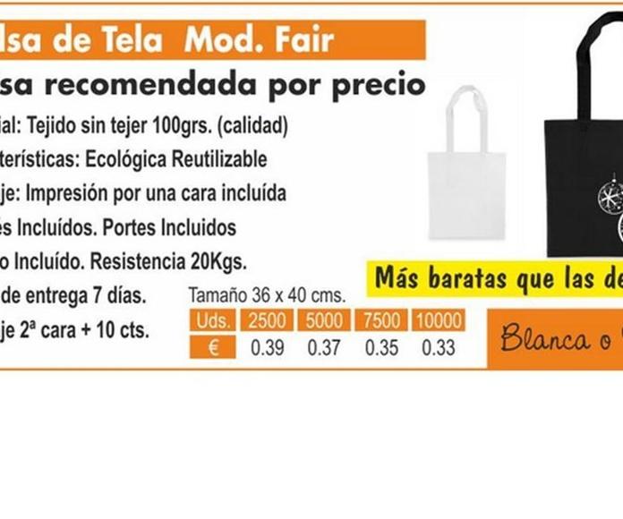 BOLSA DE TELA MODELO FAIR: TIENDA ON LINE de Seriprint Serigrafia