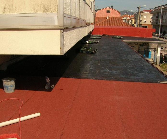 Terraza con impermeabilziación monocapa vista