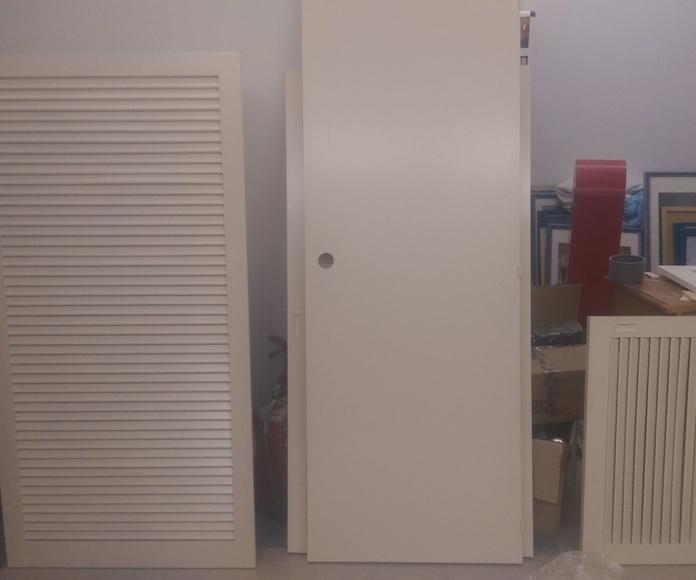 puertas lacadas en cabina