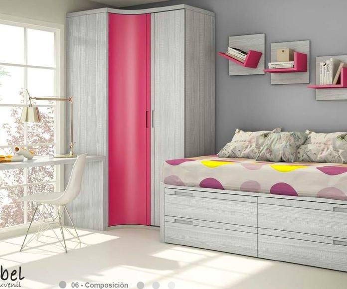 Dormitorio juvenil composición 06