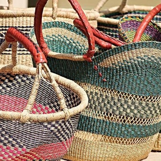 Las cestas de mimbre son tradición