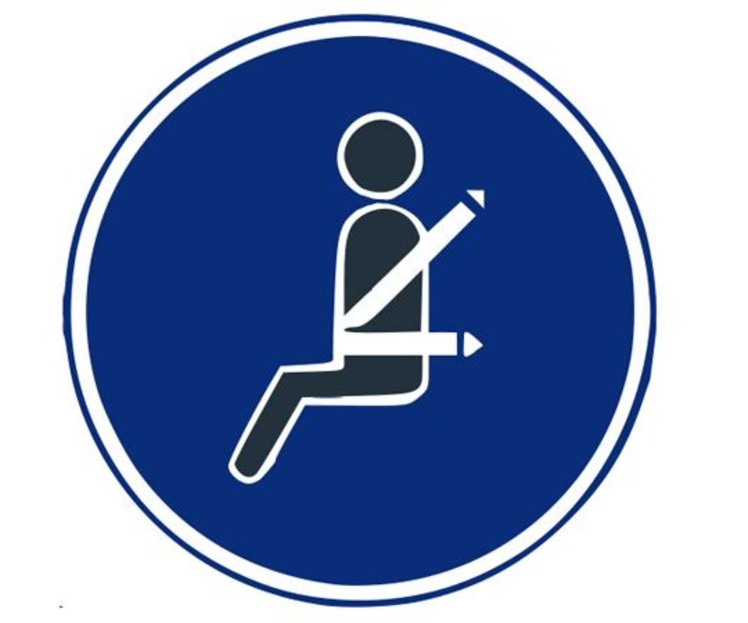 El uso del cinturón de seguridad en un autobús