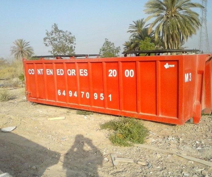 Gestion de residuos Murcia, Alquiler de contenedores Murcia, Contenedores Murcia