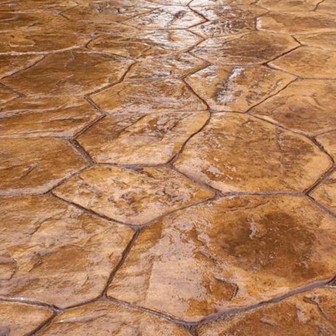 ¿Qué tintes se utilizan para los suelos de hormigón impreso?