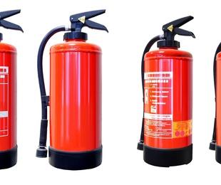 Los tipos de extintores según sus agentes