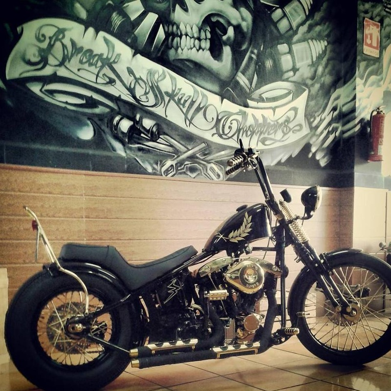 Motor shovelhead, Motos Custom, Motos Harley, Personalizar motos, Transformar Harley, Customizar motos, Restaurar motos antiguas , Break Skull Choppers