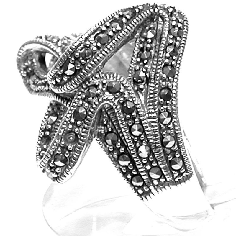 Sortija con lazo de Plata de Ley MS9579/00: Catálogo de Antigua Joyeros