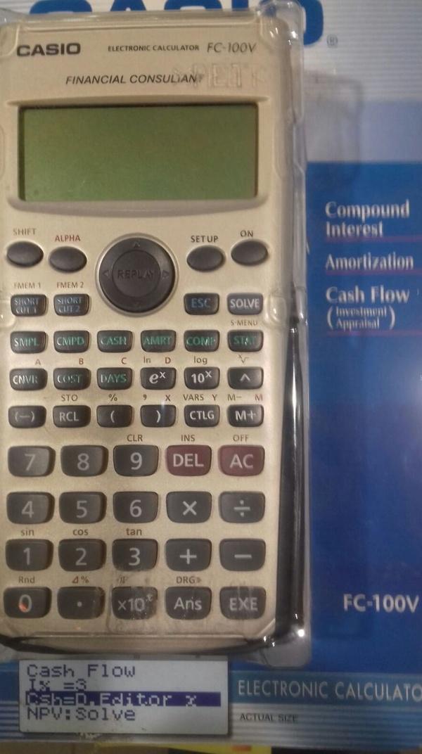 Oferta calculadora financiera Casio 44.90€