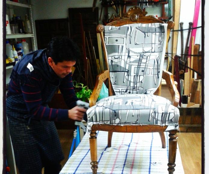 Restauracion de silla Alfonsina. Restauraciones Poblet Madrid