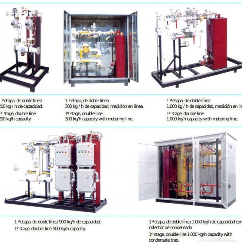 Equipos modulares de vaporación y regulación