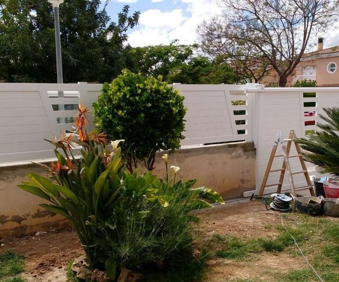 Puertas y Valla de Parcela de Alumino Blanco8 FAREM AGMA