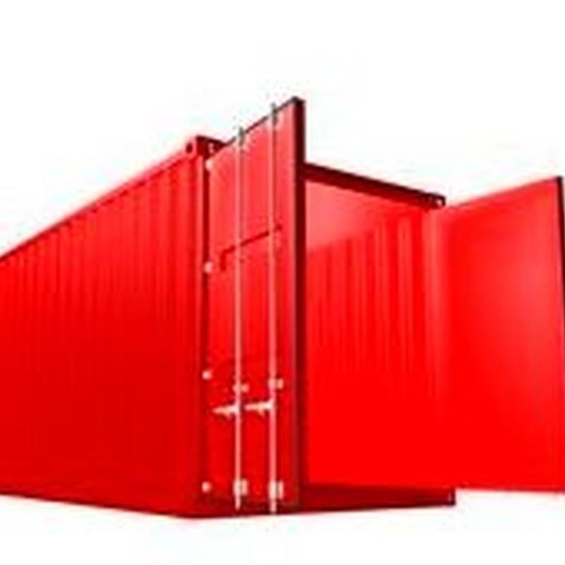Contenedores grandes para reciclaje en Alcalá de Henares. Camión pluma para entrega y retirada de contenedores grandes de reciclaje