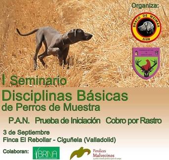 Colaboración con AEBW para la cría y selección del Braco de WeimarI Seminario de Disciplinas B