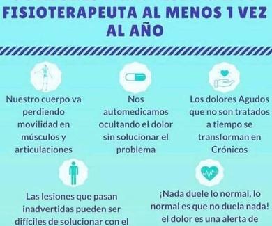 5 razonas para visitar a tu fisioterapeutra
