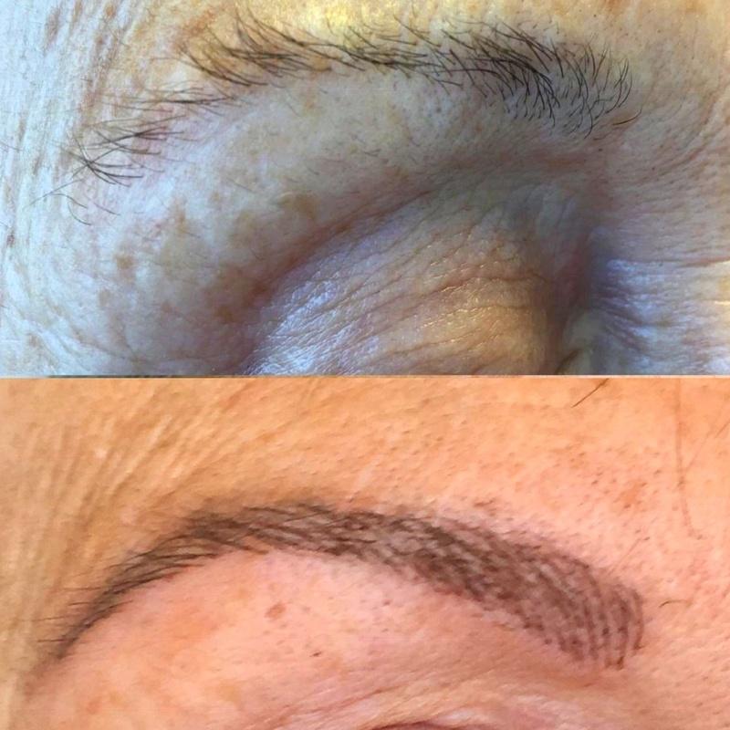 Microblading cejas antes y después