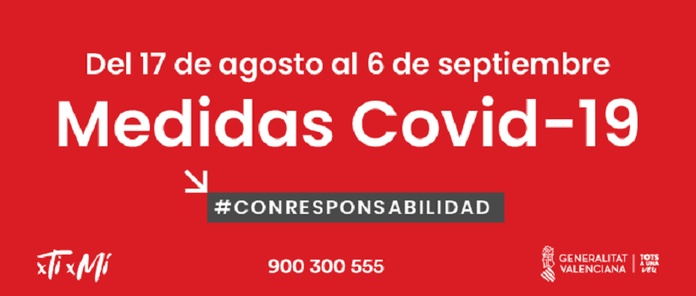 Nuevas medidas COVID 19  hasta el 6 de septiembre