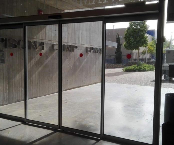 Correderas de cristal automáticas sistema FR evacuación