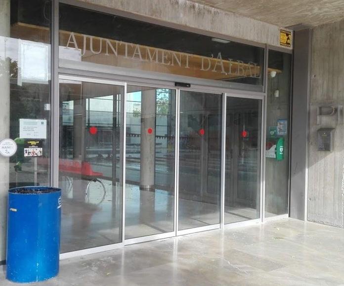 Puerta de cristal automáticas sistema FR evacuación