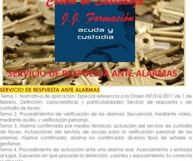CURSO SERVICIO RESPUESTA ANTE ALARMAS