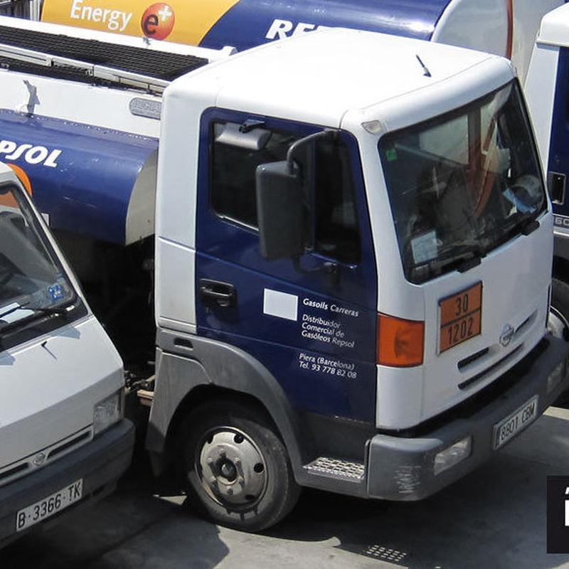 distriubución de gasóleo  en Siero