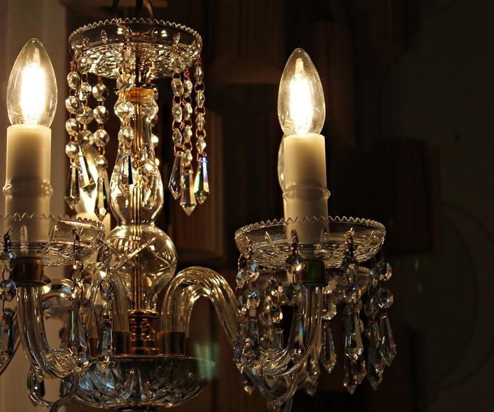 Pequeña lampara de araña Swarovski: Artículos  de Ruzafa Vintage