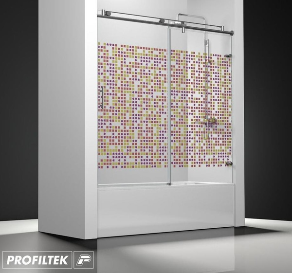 Mampara de baño Profiltek serie Steel mod. ST-110 classic decoración fashion