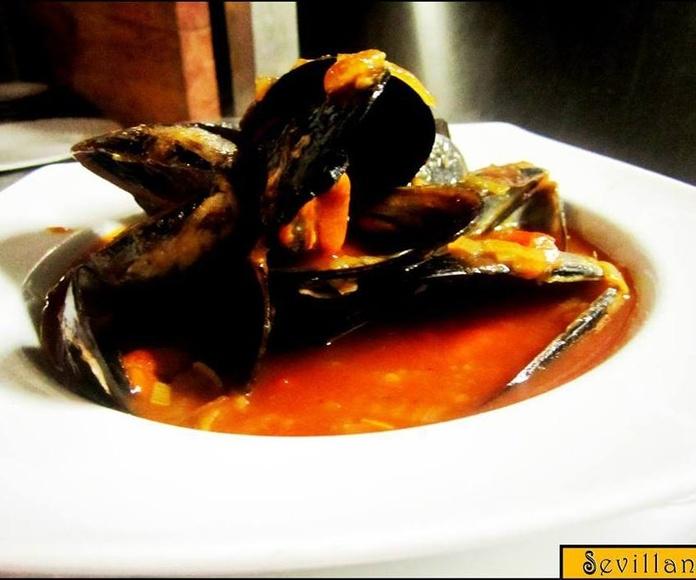 Mejillones a la marinera: CARTA EL SEVILLANO de Restaurante Sevillano
