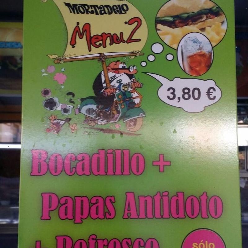 Combos: Carta de Cafetería  Mortadelo