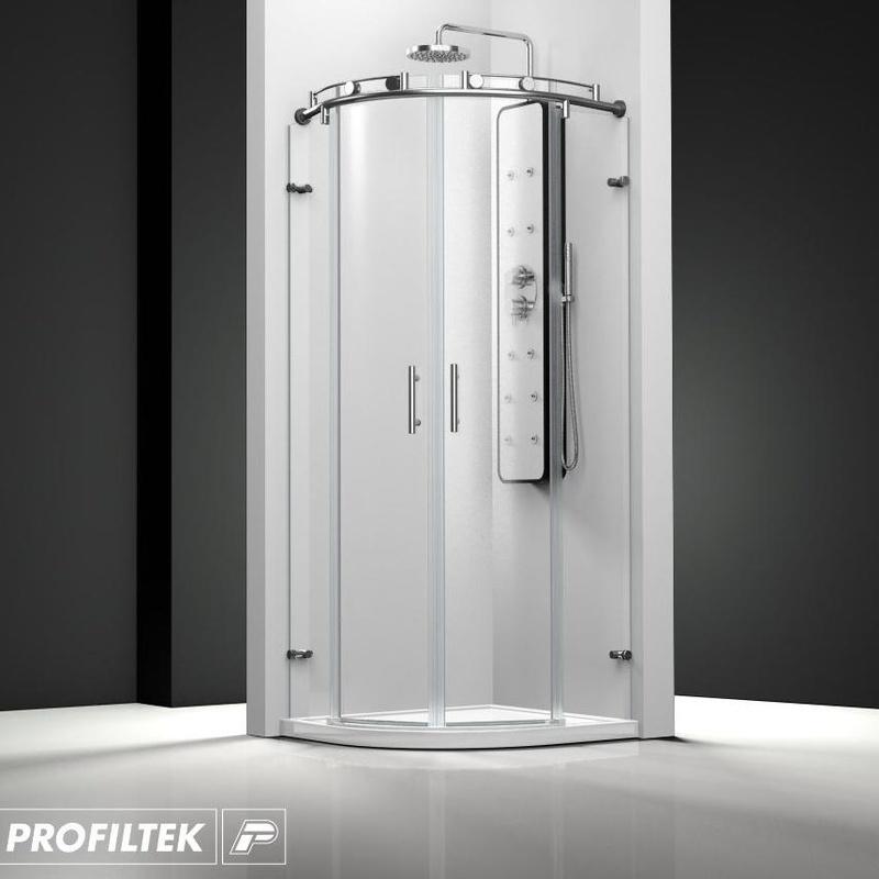 Mampara de baño Profiltek corredera serie Steel modelo ST-260 Classic