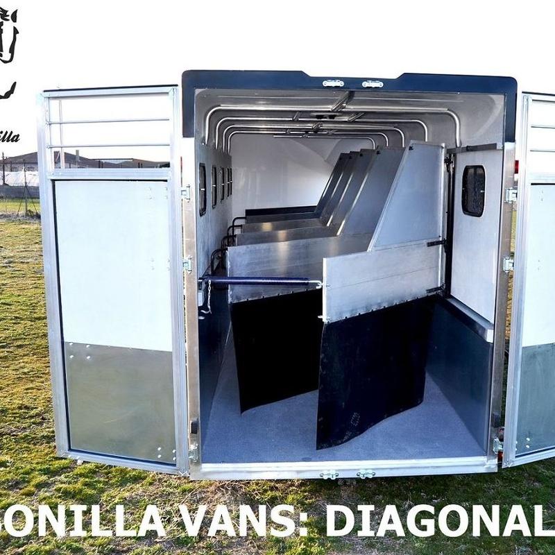REMOLQUE VAN DIAGONAL 4 CABALLOS
