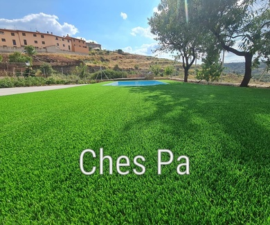 Proyecto paisajismo integral con césped artificial valencia