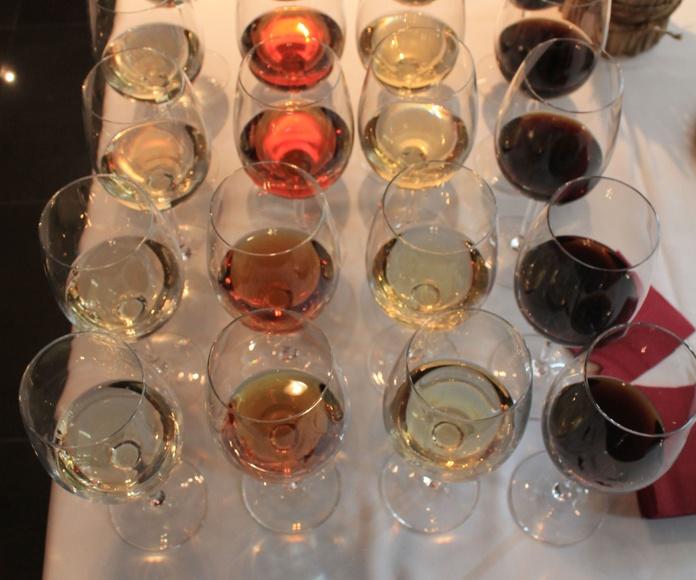 Catas de vino en Txoko Bilanda .