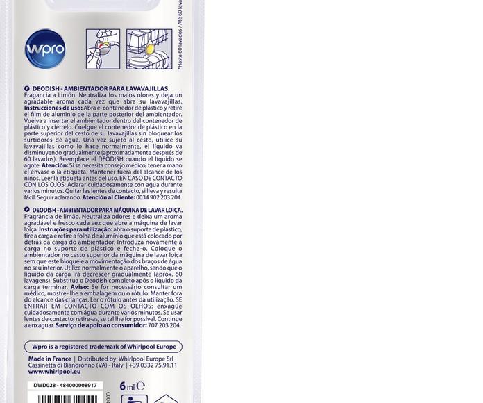 Ambientador para lavavajillas : Catálogo de Servei Tècnic Muñoz