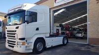 SCANIA R 450 HIGHLINE STREAMLINE AUT. RETARDER EQ. HIDRAULICO SPOILERS NAVI: Camiones of Autotruck Salamanca