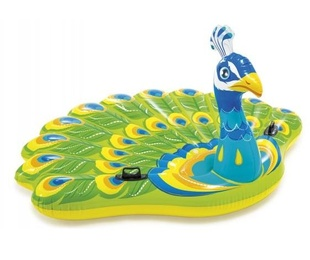 Pavo real hinchable