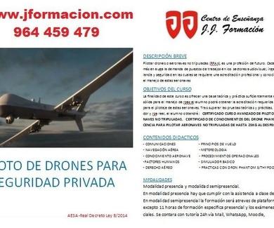 Curso piloto de drones para seguridad privada
