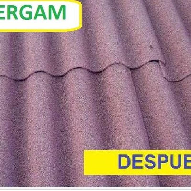Encapsulado del amianto con con corcho proyectado: Servicios de IMPERGAM