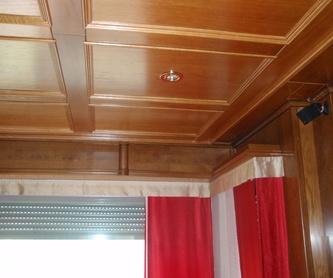 Mamparas alistonadas para despacho: Servicios  de Carpintería y Ebanistería Medel
