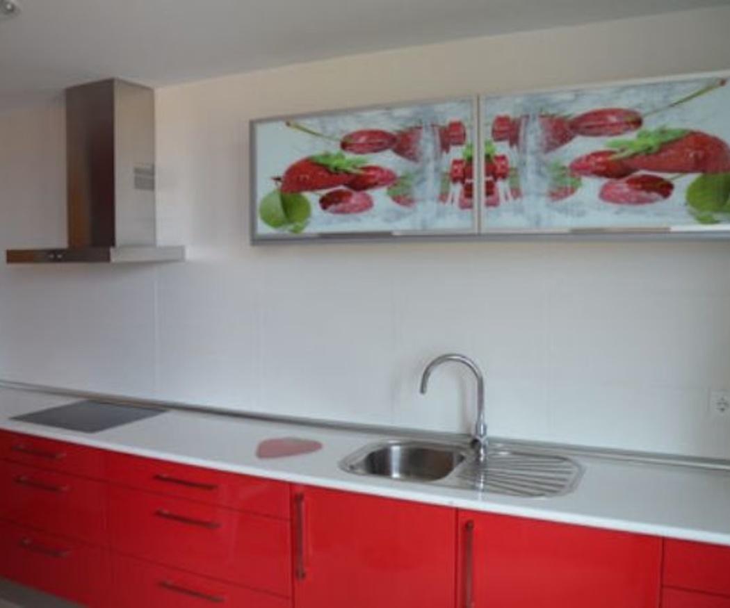 Las paredes de la cocina