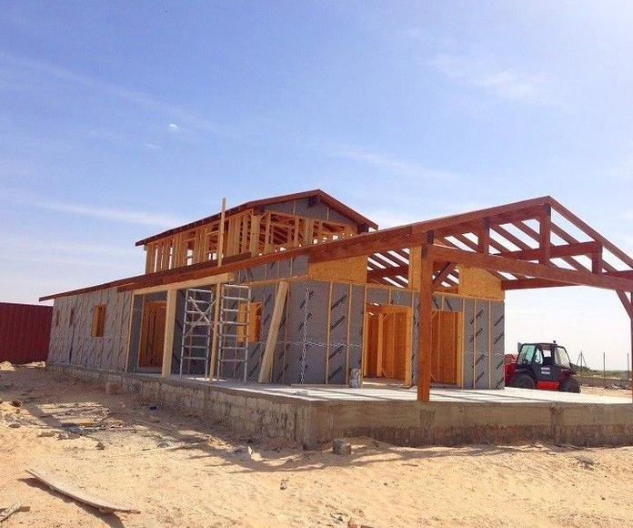 Proceso de construcción casa de madera