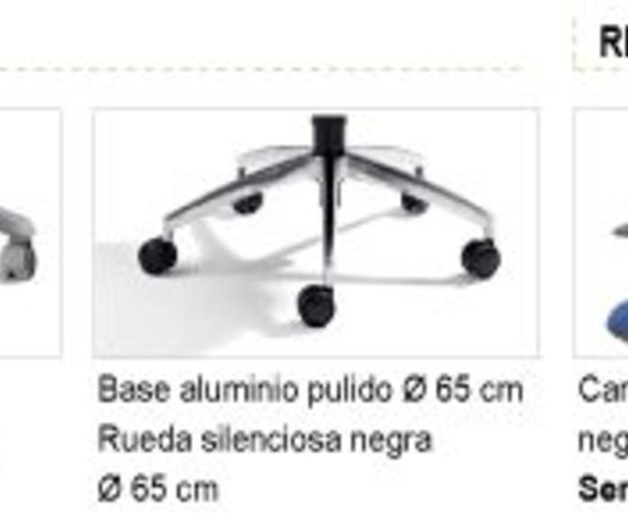 Bases y Ruedas Silla de Oficina IDONIA 100/110