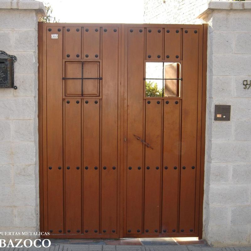 Puerta Batiente rustica