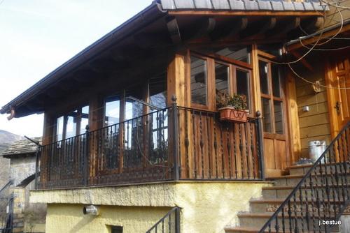 Cerramiento de terraza en madera