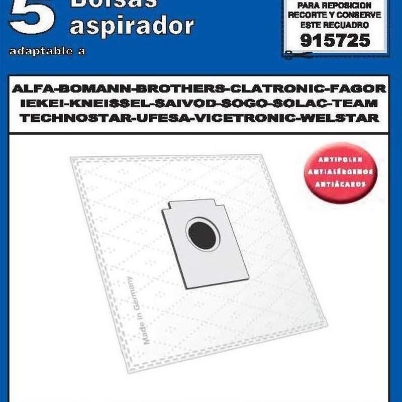 Bolsas Aspirador: Catálogo de Ferretería Arroyo