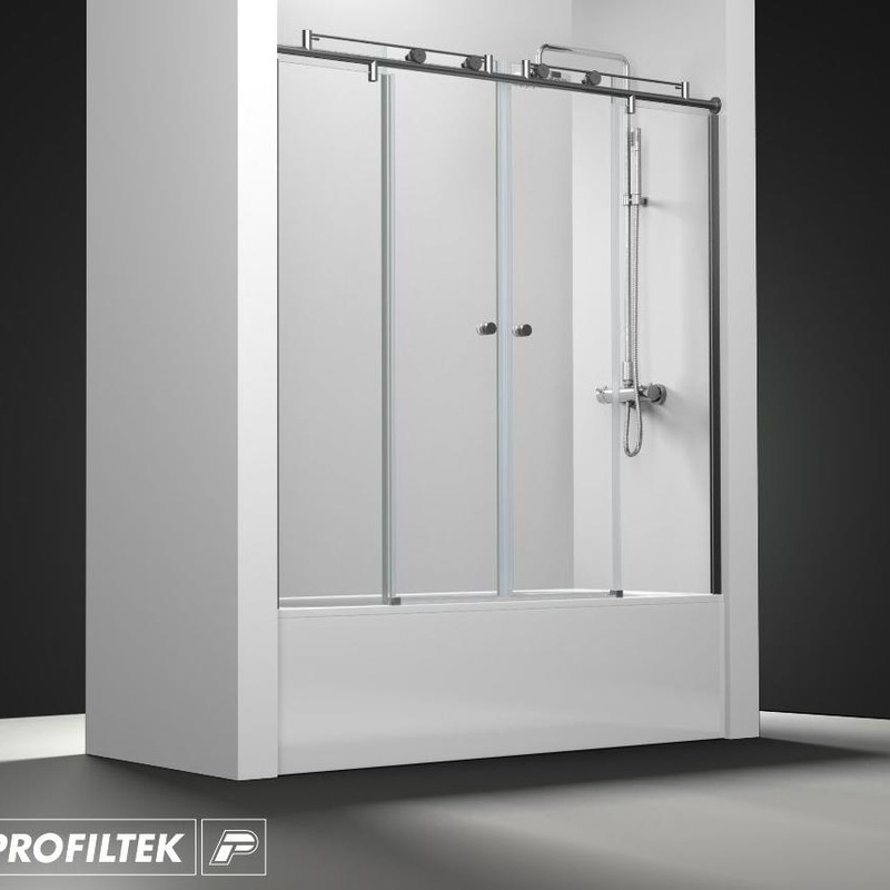 Mampara de baño Profiltek serie Steel modelo ST-125 Light