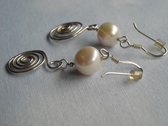 Perlas barrocas con plata