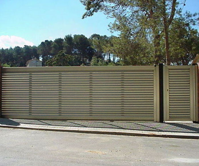 A85 Puerta Corredera de aluminio imitación inoxidable